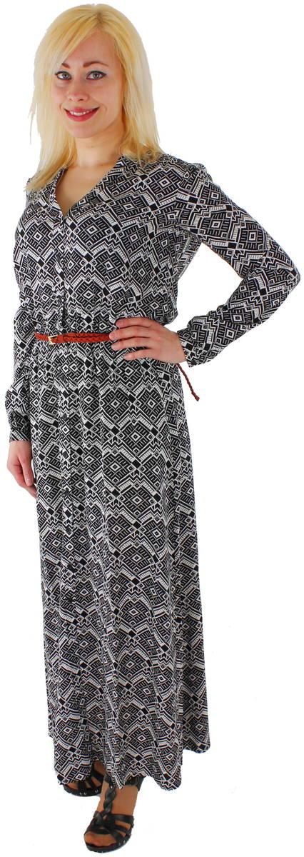 new arrival f10c6 9e37f Only Mekko Iris long dress musta l.valk - Mekot - 113660 - 1