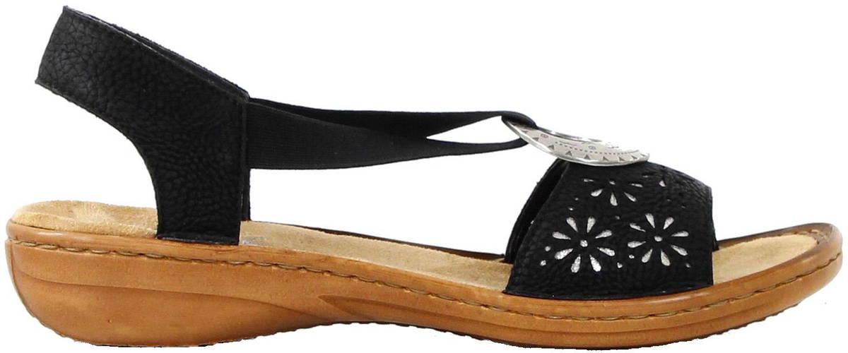 e50f036c0f5e Rieker Sandals 60886-00 black - Stilettoshop.eu webstore
