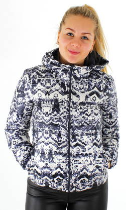 Only Kevyttoppatakki Tahoe hooded AOP - Kevyttoppatakit - 114900 - 1