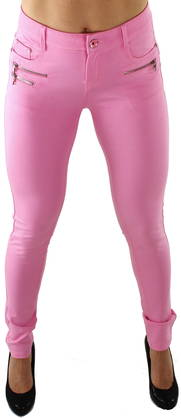 Drome II Zipper pants pink - Housut - 116440 - 1