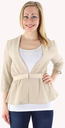 Object Jacket Evalina 3/4 beige - Jackets and blazers - 118750 - 1