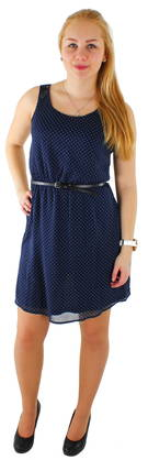 Only Dress Lia lace belt dark blue - Dresses - 114320 - 1