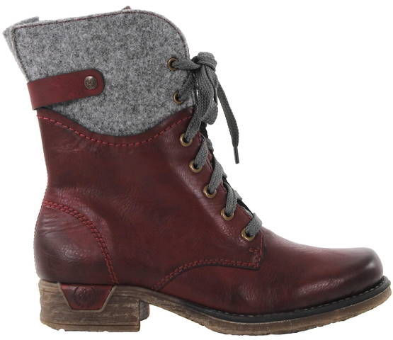 Rieker Boots 79604-39, Red - Ankle boots - 119320 - 1