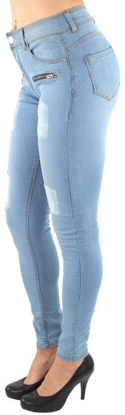 Ble Jeans push-up Housut Zipper v.sin - Housut - 121960 - 1