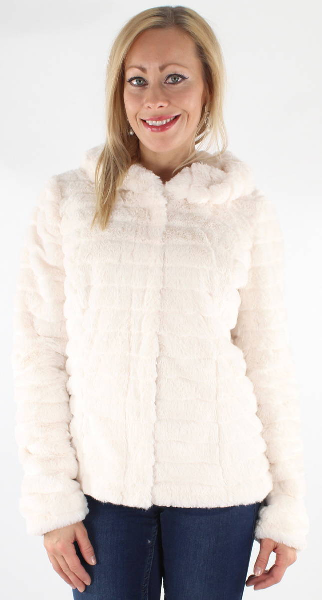 tuoreita tyylejä tukku verkossa 100% aito Vila Takki Maya Faux Fur valkoinen - Stiletto.fi verkkokauppa
