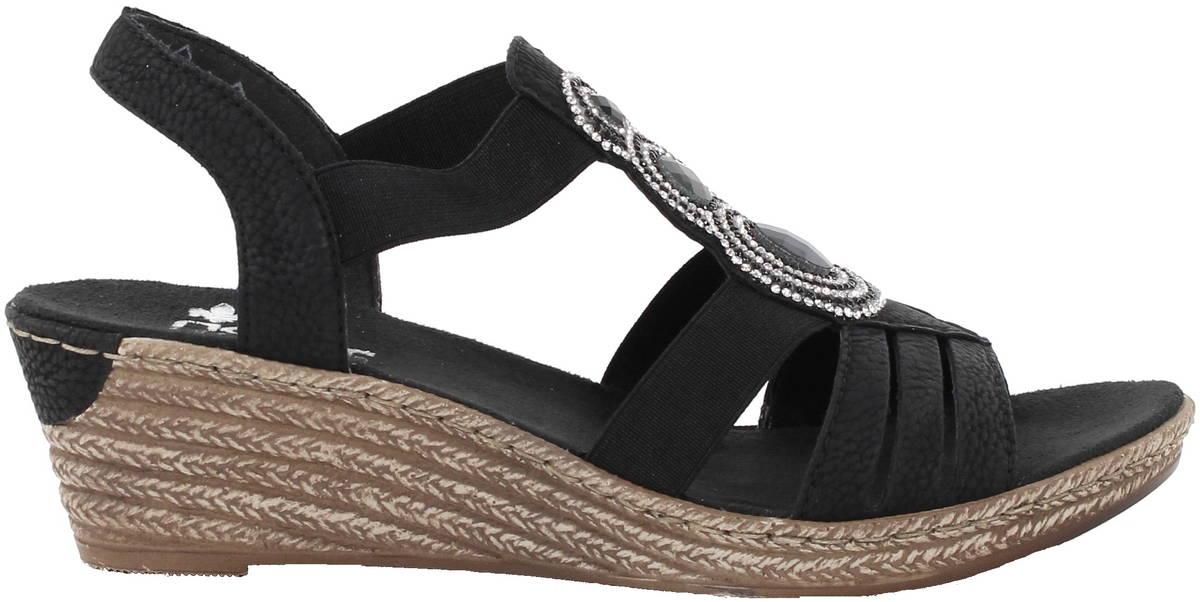 Rieker sandaalit 62459-00 musta - Stiletto.fi verkkokauppa b5604daf71