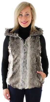 Only Karvaliivi Bilbao hooded fur - Liivit - 114901 - 1