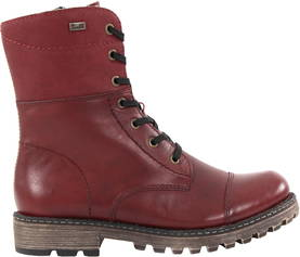 Rieker Ankle Boots Y673-36, Dark Red - Ankle boots - 119861 - 1