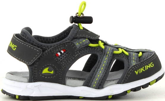 Viking Sandaalit Thrill charcoal/lime - Sandaalit - 116201 - 1