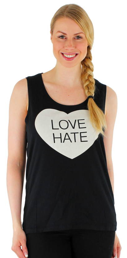 Only Toppi Lets sl Love hate top - Topit - 112151 - 1