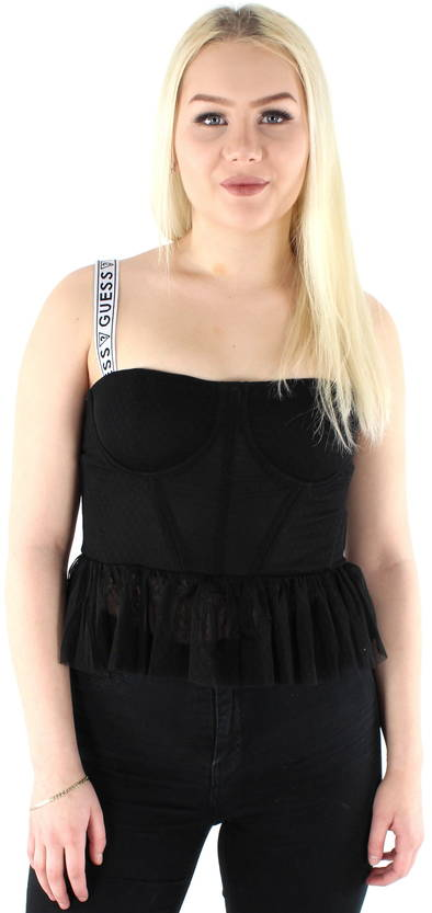 Guess Toppi Bustier W82P13K70I0 musta - Topit - 120321 - 1
