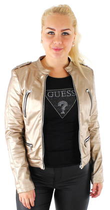 Guess Faux leather jacket W62L00W7CG0 gold - Leather jackets - 116552 - 1