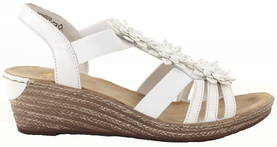 Rieker Wedges 62461-80 white - Sandals - 118032 - 1