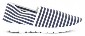 So What Canvas shoes 50802115 blue/white stripe - Walking shoes - 119112 - 1