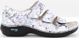 Maskintvättbara Sandaler läder grå blomma - Arbetsskor - 120292 - 1