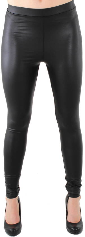 Legginsit Pieces New shiny leggins musta - Legginsit - 111683 - 1