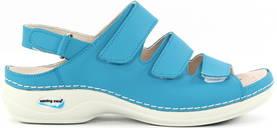 Maskintvättbara Sandaler läder turkos - Arbetsskor - 120296 - 1