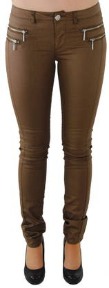 Legginsit Only Olivia coated chocolate - Legginsit - 111466 - 1