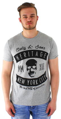 Only&Sons t-paita Skull o-neck - T-Paidat - 113556 - 1