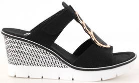 Rieker Wedges 68563-00 black - Sandals - 117956 - 1