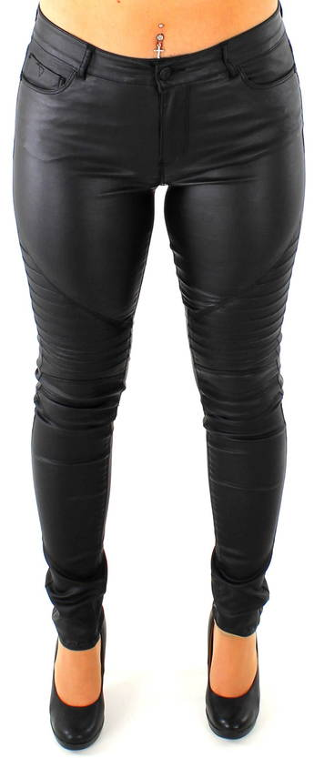 Noisy May Ex lucy coated biker musta - Legginsit - 115346 - 1