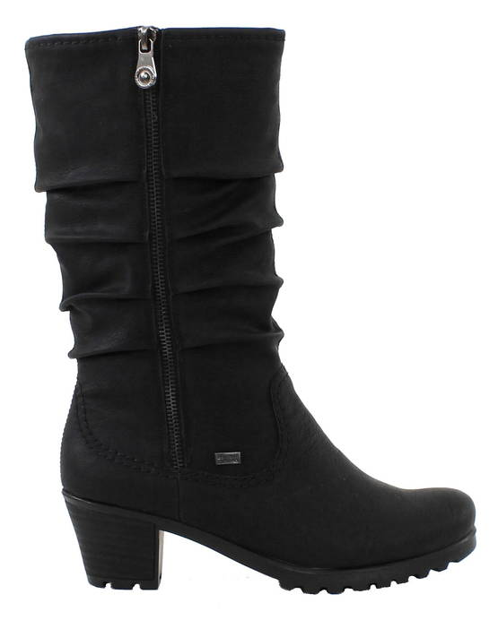 Rieker Boots Y8039-00, Black - Boots - 119646 - 1