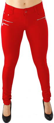 Drome Zipper pants really red - Housut - 115747 - 1