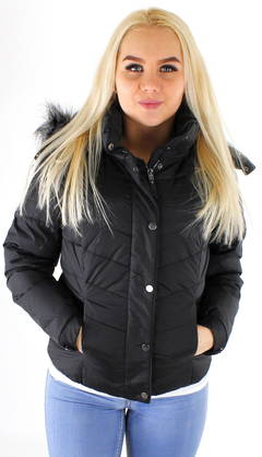 Only Quilted Jacket Sierra short black - Winter jackets - 117187 - 1