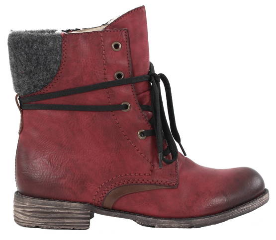 Rieker Ankle boots 74722-35 red - Ankle boots - 119208 - 1