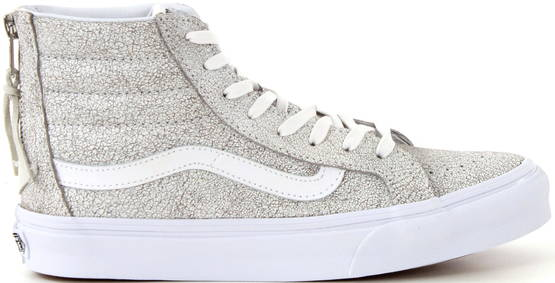 Vans SK8-HI slim zip crackle suede valk. - Tennarit - 113349 - 1
